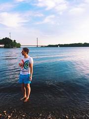 Oleg at Dnipro river (kiralaktionov) Tags: birthday boy red party summer sky orange sun man beach nature water clouds river drink burger bank playa ukraine human barbeque kiev kyiv oleg dnieper dnipro kiselev vsco iphoneography vscofilm vscocam se7ensky