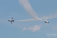 Air Force Thunderbirds solos counter pass