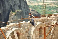 Job with sunny prospects (debceenez) Tags: world heritage site unesco greece monks meteora monasteries kalampaka kastraki