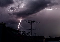 Lights and Thunder ! (Rafael Queiroz Photography) Tags: longexposure rain canon thunder t3i 18135 600d