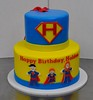 Super hero birthday cake (jennywenny) Tags: birthday cake super superman hero cape