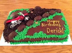 Dirt bike cake by Whitney, Linn County, IA, www.birthdaycakes4free.com