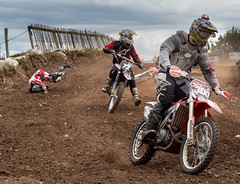 Motor x rider hits the dirt (barksworld) Tags: track crash x motorbike dirt motor collision motorcross norley