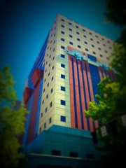 Expressionism in Architecture (TMimages PDX) Tags: city sky urban usa building skyline geotagged photography photo downtown cityscape unitedstates postmodern image streetscene explore photograph pacificnorthwest portlandoregon michaelgraves fineartphotography flickrexplore theportlandbuilding explored iphoneography sckyscrper