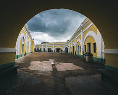 Shelter (KD Robinson) Tags: architecture clouds arch puertorico fort outdoor sony wideangle sanjuan a6000