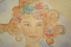 Marie Turenne aquarelle_et_crayons juillet 2015 dtail 2 (marieturenne.wordpress.com) Tags: portrait watercolor drawing femme dessin douceur marieturenne