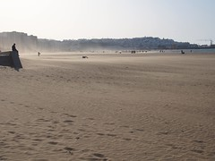 P6030254 (lnewman333) Tags: ocean africa sea people beach coast sand wind northafrica morocco sandstorm maroc maghreb gusty plage tangier tanger straitofgibraltar plagemunicipale tingis