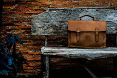 Brown Leather laptop bag corporate  on old woden chair (absolute_nt) Tags: brown men leather corporate office sac gear case business pack purse poke pouch backpack kit packet sack pocket rucksack suitcase satchel briefcase handbag tote pocketbook carryon laptopbag duffel knapsack saddlebag haversack carryall holdall attach