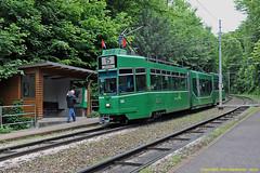 Wolfschlucht Tram Stop (Don Gatehouse) Tags: switzerland basel bvb messeplatz wolfschlucht line15 articulatedtram classbe46 baselerverkehrsbetriebe tram684