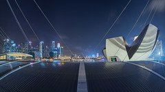 When the Night Falls (bing dun (nitewalk)) Tags: night marina bay singapore cityscape esplanade cbd sands mbs artsciencemuseum