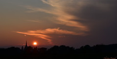 Sunset on the village. (christinedurand) Tags: sunset sun soleil québec autofocus flickrtravelaward onlythebestofflickr