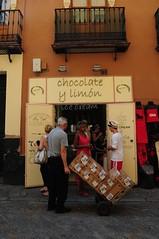 DSC_9366 (irina_h) Tags: food shop shopping yummy sevilla spain desert chocolate seville lemons spagna gastronomy