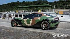 maserati grandturismo s - camoflage 04 wrapstyle car wrap foil (WrapStyle) Tags: auto car wrapping design 3d singapore dubai prague foil sydney vinyl poland praha brno vehicle qatar ostrava zlín wrapstyle polepy
