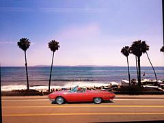 Sun Bleached & Classic (John Jardin) Tags: ocean california blue red sea sky sunlight classic beach car sunshine vintage palms drive islands coast highway view pacific sunny convertible vista tbird