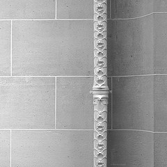 All details are important (Antoine - Bkk) Tags: detail architecture darktable heritage black white wall art nouveau hector guimard organic texture water drain pipe