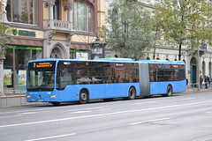 BKK NNE-069 (Will Swain) Tags: 7th november 2016 bus buses transport travel vehicle vehicles county country central capital city centre budapest hungary europe blaha lujza tér bkk nne069 nne 069