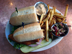 Oyster Po-Boy at Harry's Roadhouse (kaydeesquared) Tags: 2016 november restaurant food santafe newmexico harrysroadhouse
