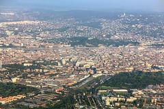 Budapest-aerial2014 (Romeodesign) Tags: hungary budapest aerial flight fromabove airplane city danube duna river gellert bridges