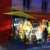 Colored night (nathaliedunaigre) Tags: nuit night sreet paris rue quatresaisons marchand étal couleurs colors flou blurr blurred superposition