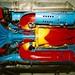 Cutaway centrifugal compressor jet engine. Lone Star Flight Museum 2002-7-AI-2-20A