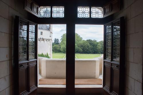 Vue sur les jardins du Château de Chenonceau