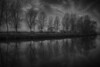 Sleepy Hollow (Nick.Richards) Tags: sleepyhollow newforest trees treelined reflection longexposure water river mono monochrome blackandwhite bnw blancetnoir lightroom nikon nikon1685 nickrichards nikond7100 nikefex d7100 silverefex landscape