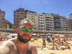 At the beach, San Sebastian!