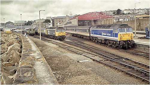 Penzance station - 1989.