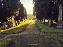 Galston Cemetery. I often come here for a walk. I spend a while enjoying the peace and quiet and I have a good think about things. Galston is former home town, I live in Ayr now but I love to come back to Galston. (Paul Rankin) Tags: galston galstoncemetery ayrshire
