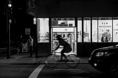 Shattuck Ave. (Jamie Manley) Tags: night berkeley bike shattuck laundromat street