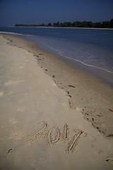 Happy New Year 2017 (jeet_sen) Tags: 2016 2017 beach greetings happy happynewyear hny india karnataka kodi new sand sandnotes sandwriting sea udupi wishes year