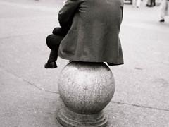 Beijing. (Devlin Cook) Tags: leica m6 summarit 50mm f15 ilford hp5 film grain monochrome black white bw candid street beijing china train station