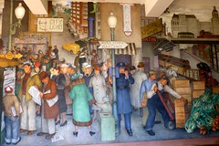 Mural in the Coit Tower, San Francisco, California (Joseph Hollick) Tags: sanfrancisco california usa coittower art mural painting citylife victormikhail