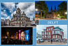 Greetings from Delft (glukorizon) Tags: 52weeksof2016 ansichtkaart bouwgroepgrachtenhuisnieuwdelft canal centrum cityhall collage delft eveningoflights gemeentehuis gracht house huis lichtjesavond nederland newdelft newbuilding nieuwdelft nieuwbouw oostpoort postcard reshoot stadhuis townhall zuidholland