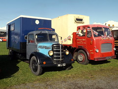 1950's Bedford and Leyland (miledorcha) Tags: nymr wartime weekend event pickering bedford oseries truck nkj32 rcw702 leyland comet lorry platform rigid o350 diesel petrol preserved restored showground