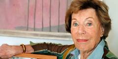 Benoîte Groult (menderre) Tags: vertical portrait femme ecrivain personnelitterature journaliste feministe hauteur planrapproche tableauart aquarelle famille effigie
