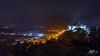 Techno Land (Tim van Zundert) Tags: hdr harlech castle gwynedd merionethshire north west wales night evening long exposure landscape spotlights hill sony a7r voigtlander 21mm ultron panorama