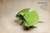 Frilled-Neck Lizard (front) - Gen Hagiwara (valitrenta) Tags: frillednecklizard tant paper papel gen hagiwara spirits origami