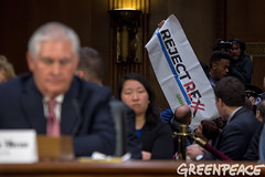 California Activist Protest Rex (Greenpeace USA 2016) Tags: tillerson rex exxon mobile climate denier trump statedepartment secreatryofstate senate capitolhill hearing confirmation washington dc