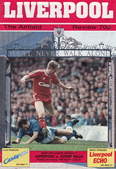 Liverpool vs Aston Villa - 1989 - Cover Page (The Sky Strikers) Tags: liverpool aston villa anfield barclays league division one the review 70p