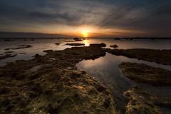 Silenzio (Finasteride (Magro Massimiliano)) Tags: tramonto mare scogli calma silenzio sole cielo costa italia lazio civitavecchia magromassimiliano finasteride d610 nikond610 samyang samyang14mm ptlens acqua paesaggio bagnasciuga seascape landscape
