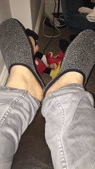 Various friends and their #Slippers!  #Gay #Feet #Bare #Sockless #Fetish #Male #NoSocks #barefoot (FootboiMax) Tags: fetish bare nosocks sockless feet gay barefoot male slippers