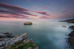 Matalete (Caramad) Tags: agua longexposure mar rocks landscape puesta de sol islares matalete sunset rocas olas marcantábrico seascape cantabria puestadesol sea