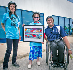2015-06-03-Minister Crothers poses with artist and Olympian
