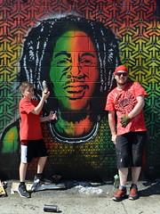 Father and Son (Eddie C3) Tags: newyorkcity streetart art graffiti graffitiartist eyez astoriaqueens wellingcourt wellingcourtmuralproject 6thannualwellingcourtmuralproject