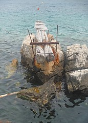 Old Jetty (Lydie's) Tags: water rocks jetty logs croatia buoys precarious babinkuk