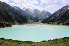 Big Almaty Lake (ktussupbekov) Tags: summer mountain lake water clouds cloudy kazakhstan almaty
