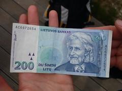 Litewski banknot | Lituanian note