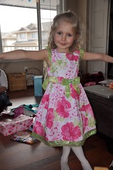 The birthday girl in her new dress from Grandma :)