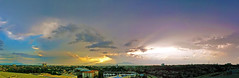 It was sunset and it was about to rain. Hence, each has its different colour. Taken with my Sony Xperia Z. (Iain Bong Photography) Tags: sunset panorama clouds asia glory creation sarawak malaysia borneo southeast kuching